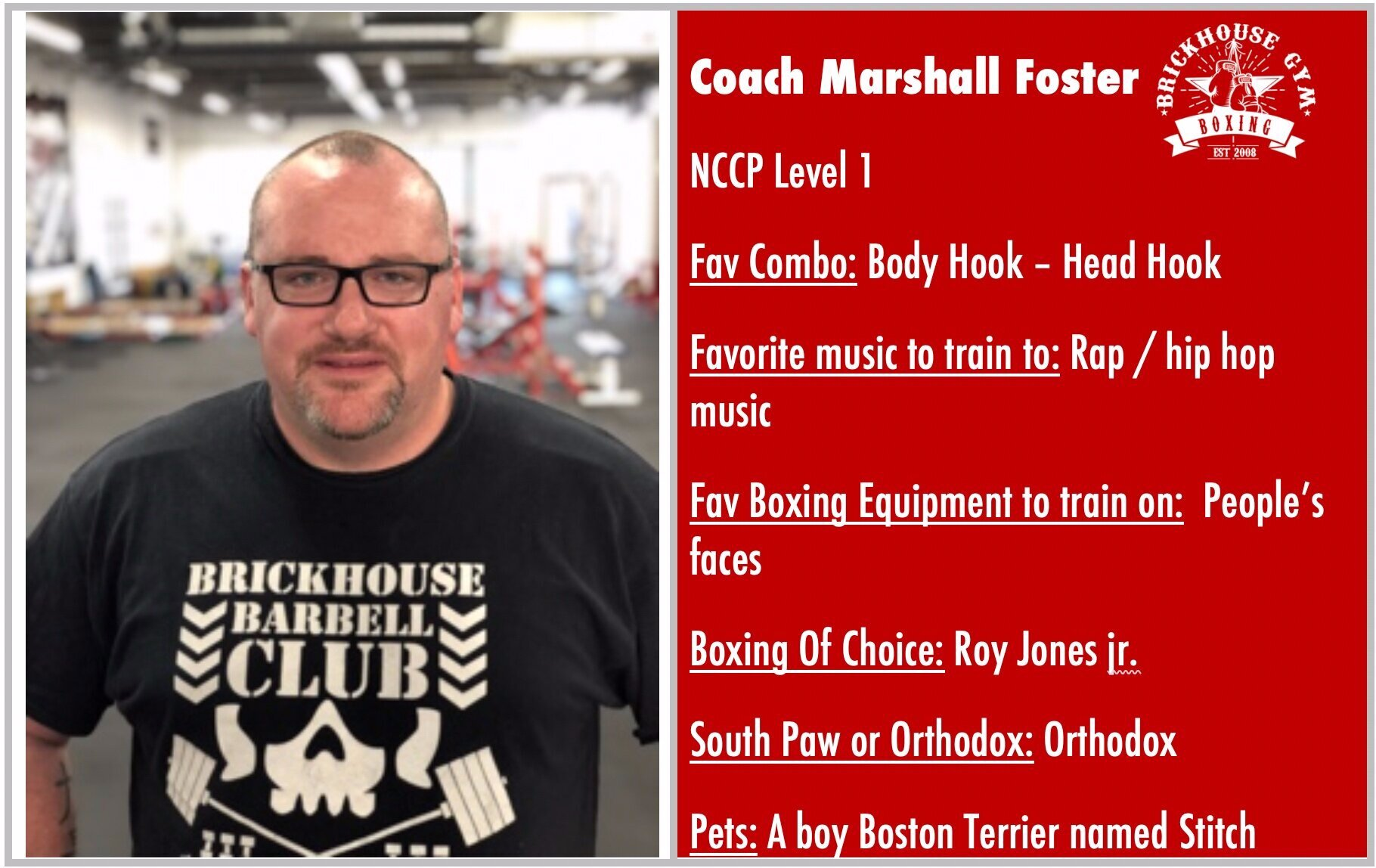 Coach Marshall Foster: Featured Coach of Week 1 September 9 - 15, 2019