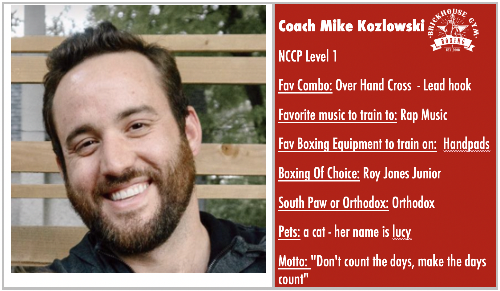 Coach Mike Kozlowski: Featured Coach of WEEK 5 - October 7 - 13, 2019