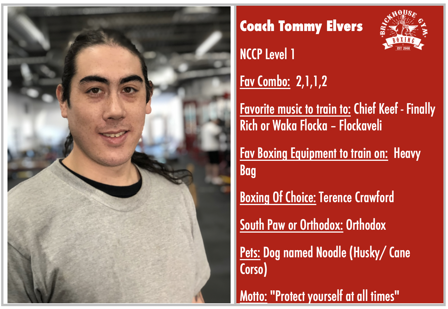 Coach Tommy Elvers: Featured Coach of Week 6 October 14 to