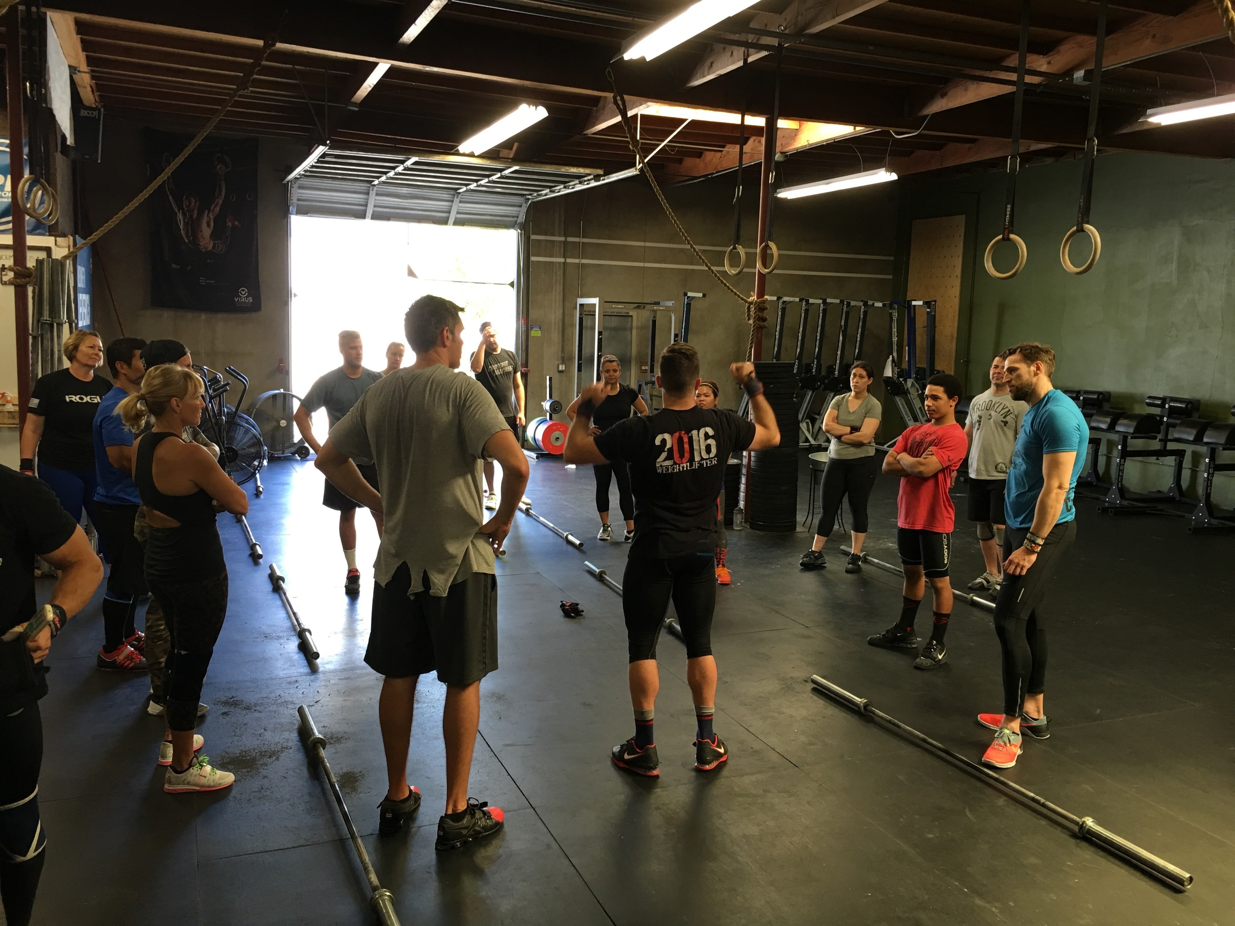 Coach Chris running a 2 hour workshop at Orange Coast CrossFit