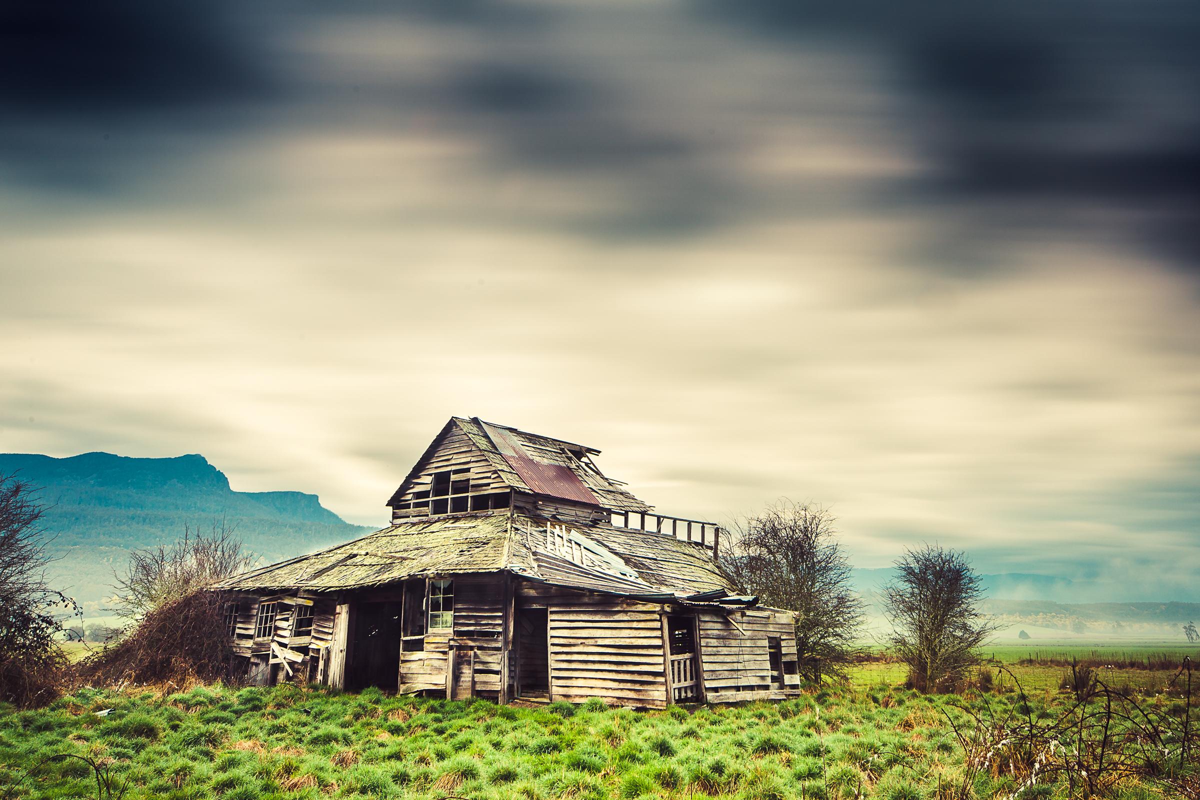 Abandoned Woolshed, Liffey