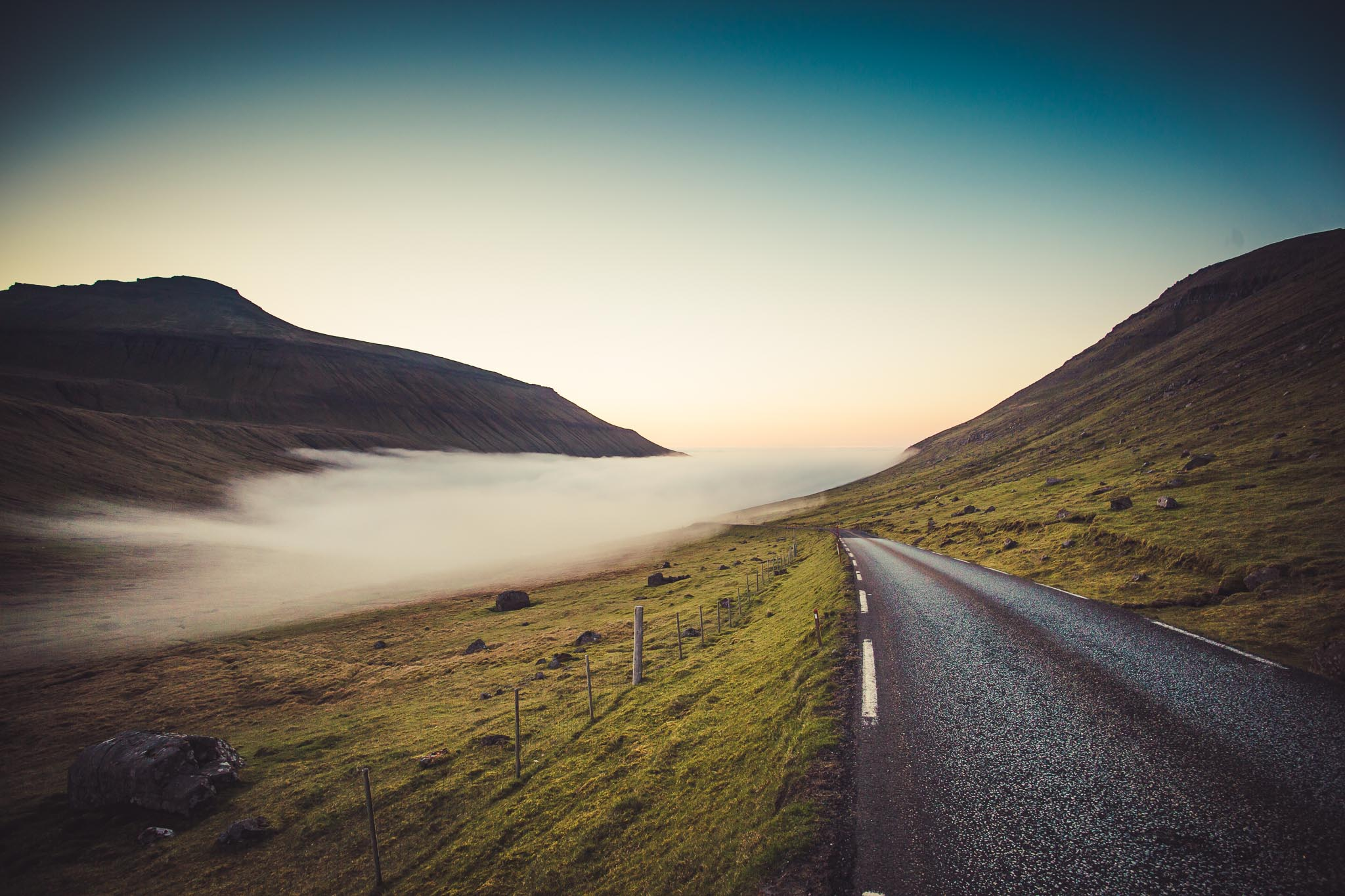 Fog Faroe Islands
