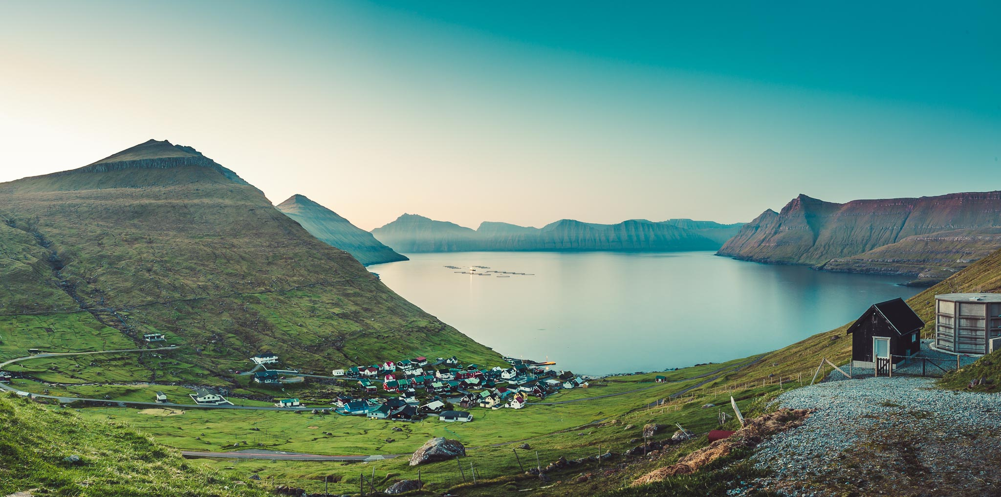 View of Funningur, Faroe Islands