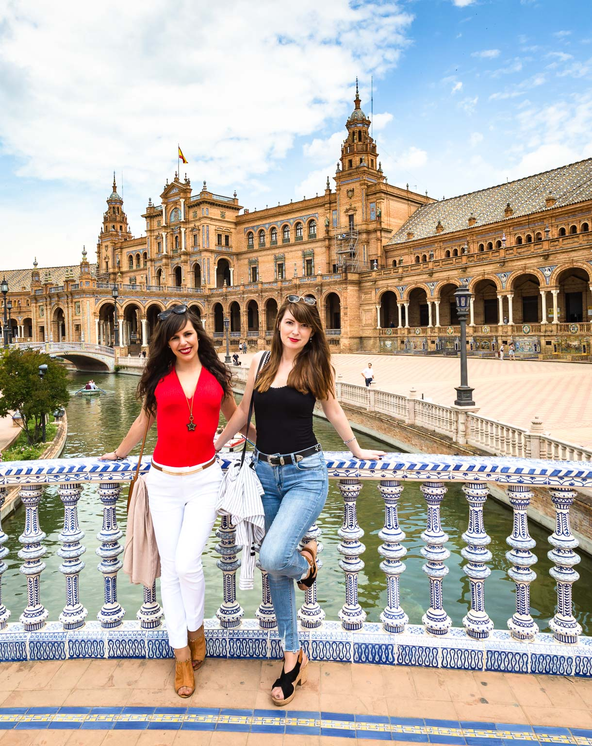 Plaza De Espana with two lovely tourists from Valencia.