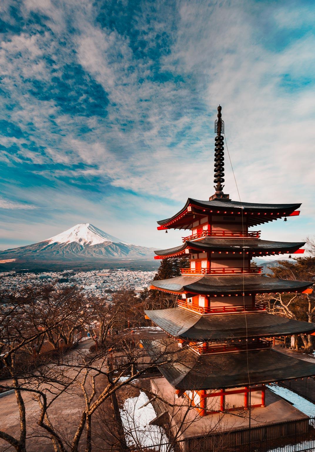 Chureito Pagoda - ISO 400, F11 @ 1/60th