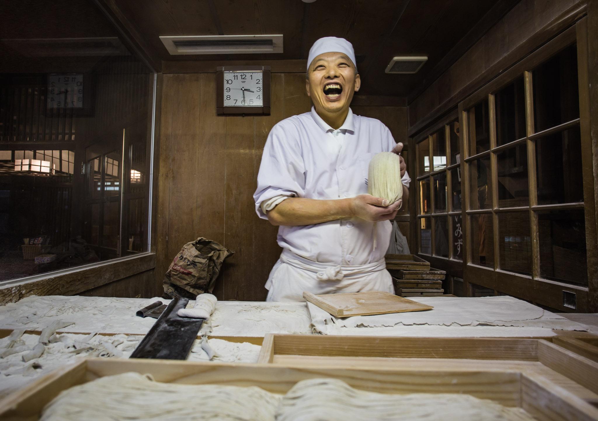 Making Soba Noodles in Nagano City