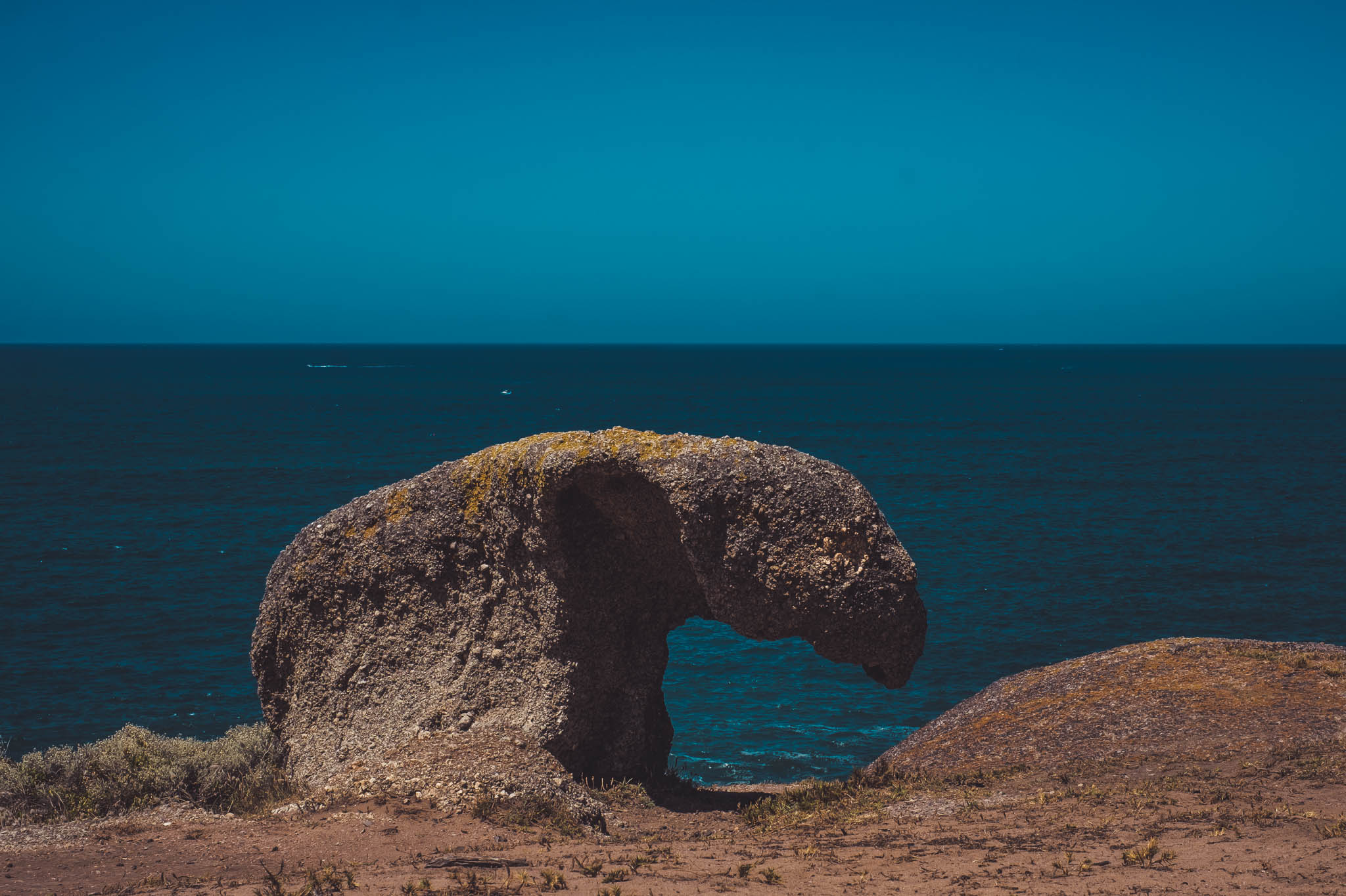 Granite Island natural formation of rocks.
