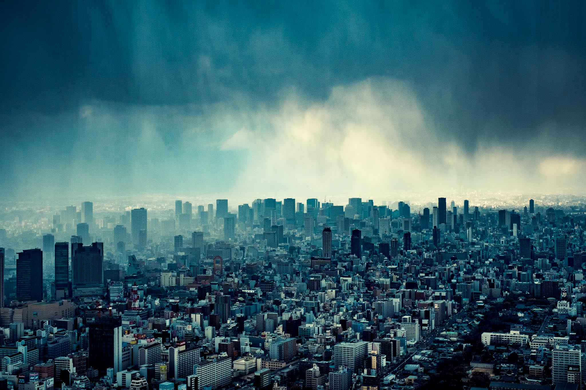 Osaka Views from Abino Harukas 60th floor.