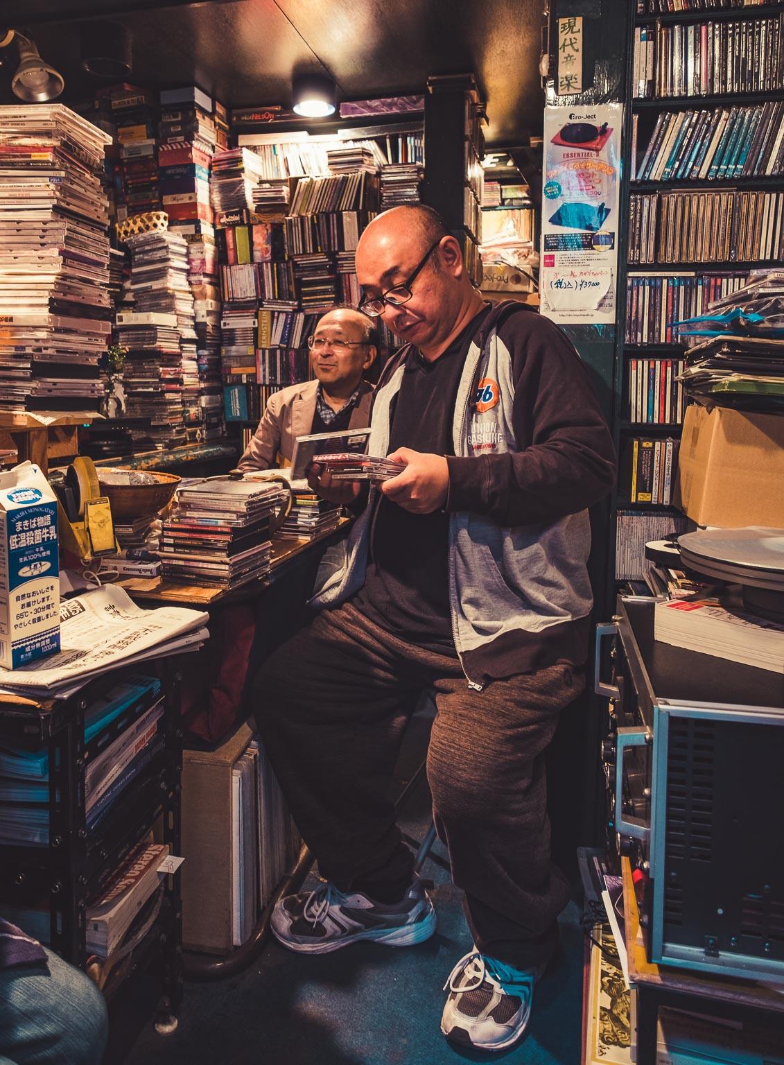 Second hand CD & DVD Shop.