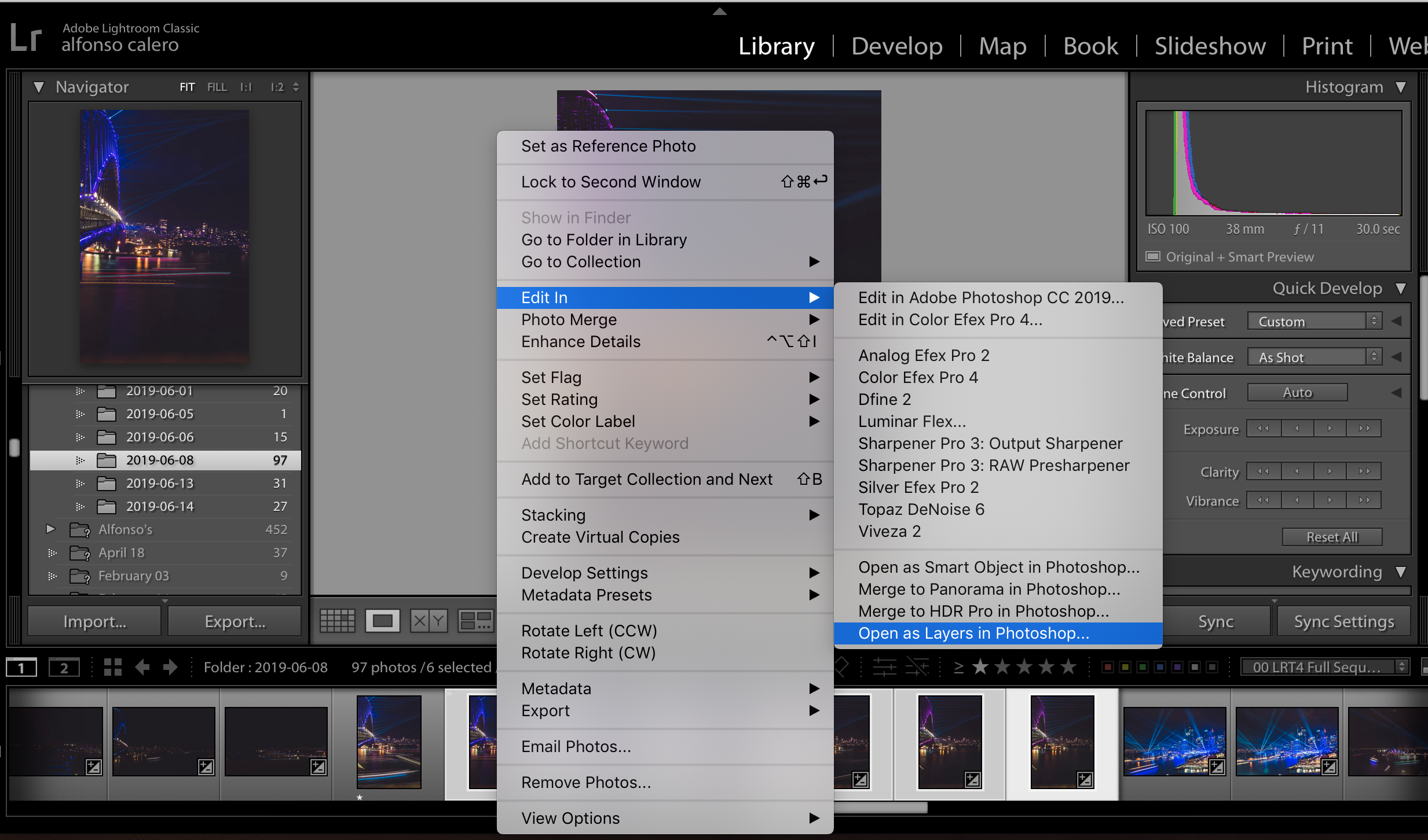 Adobe Lightroom - Open As Layers