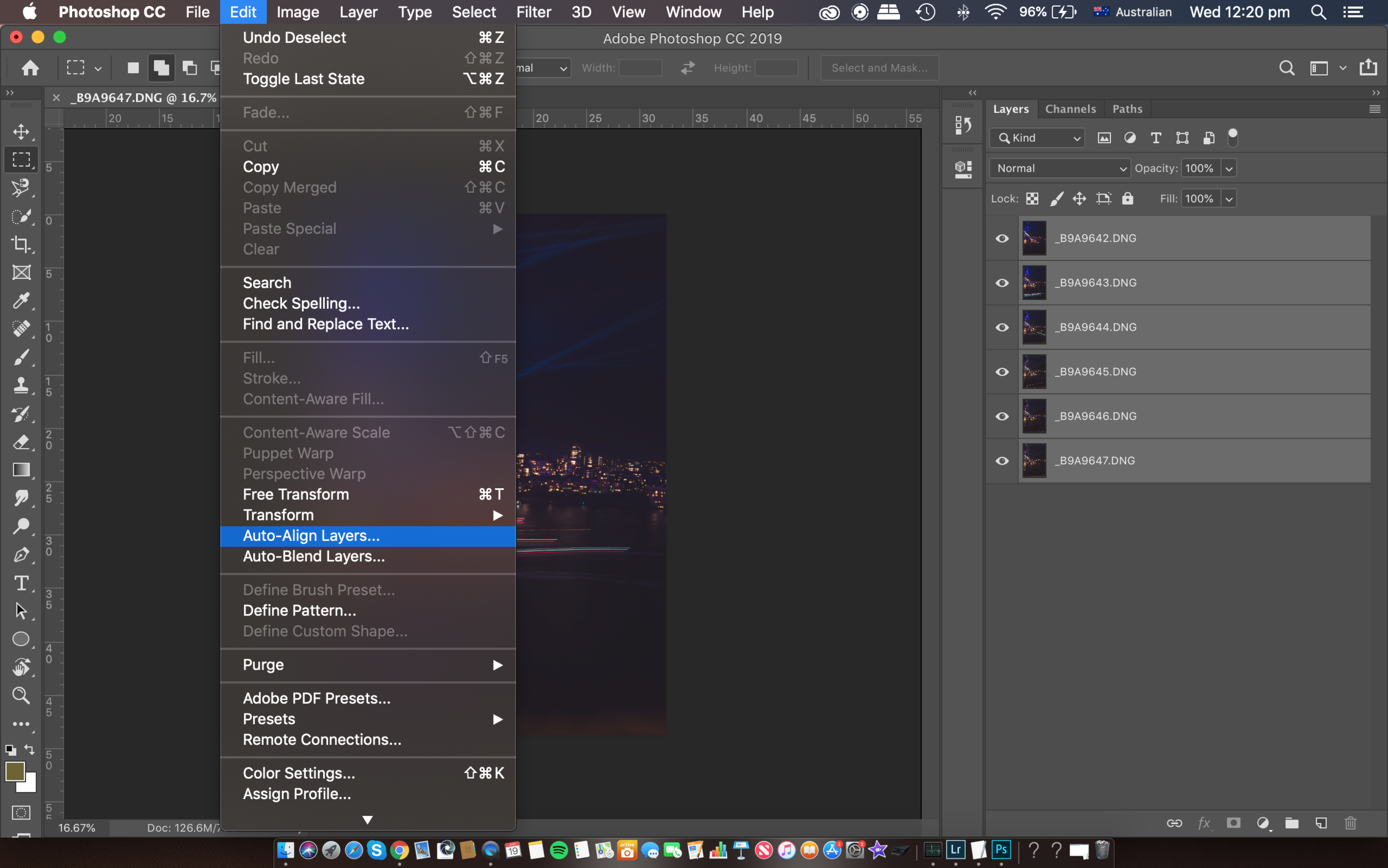 Align all Layers in Photoshop