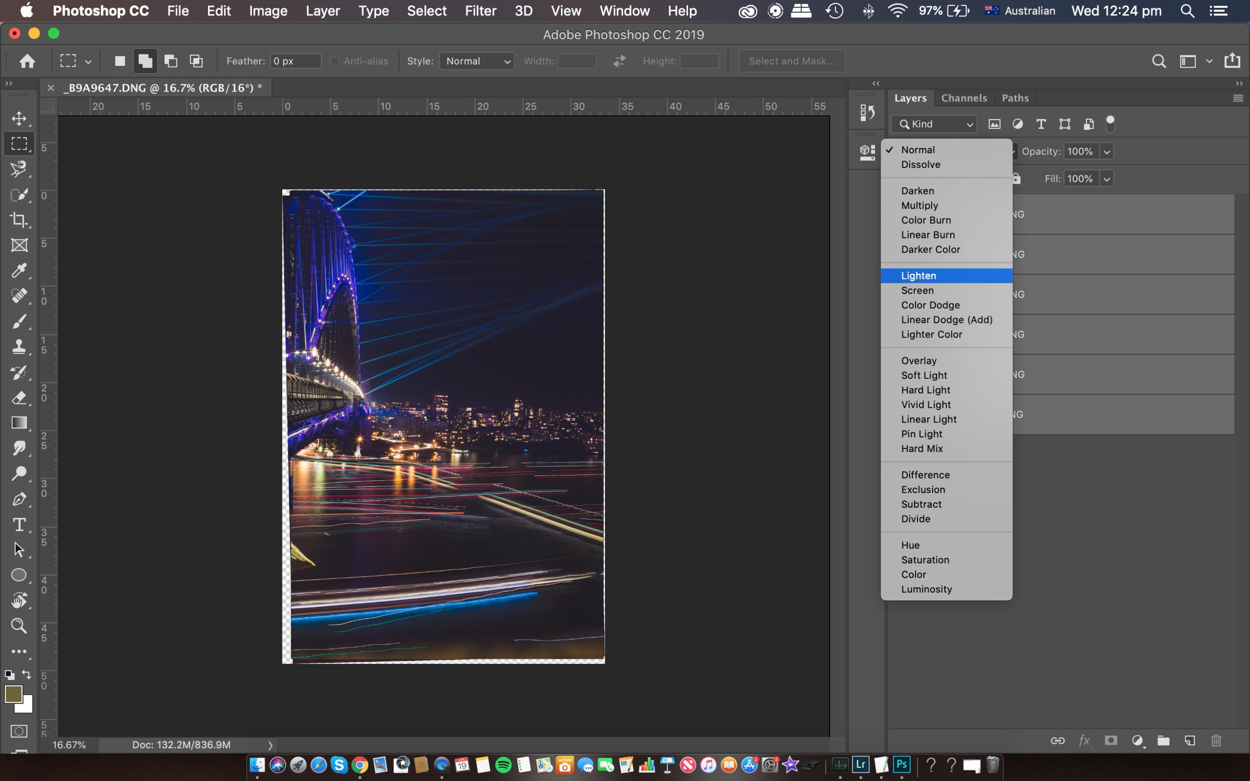 Lighten Blend Mode in Photoshop