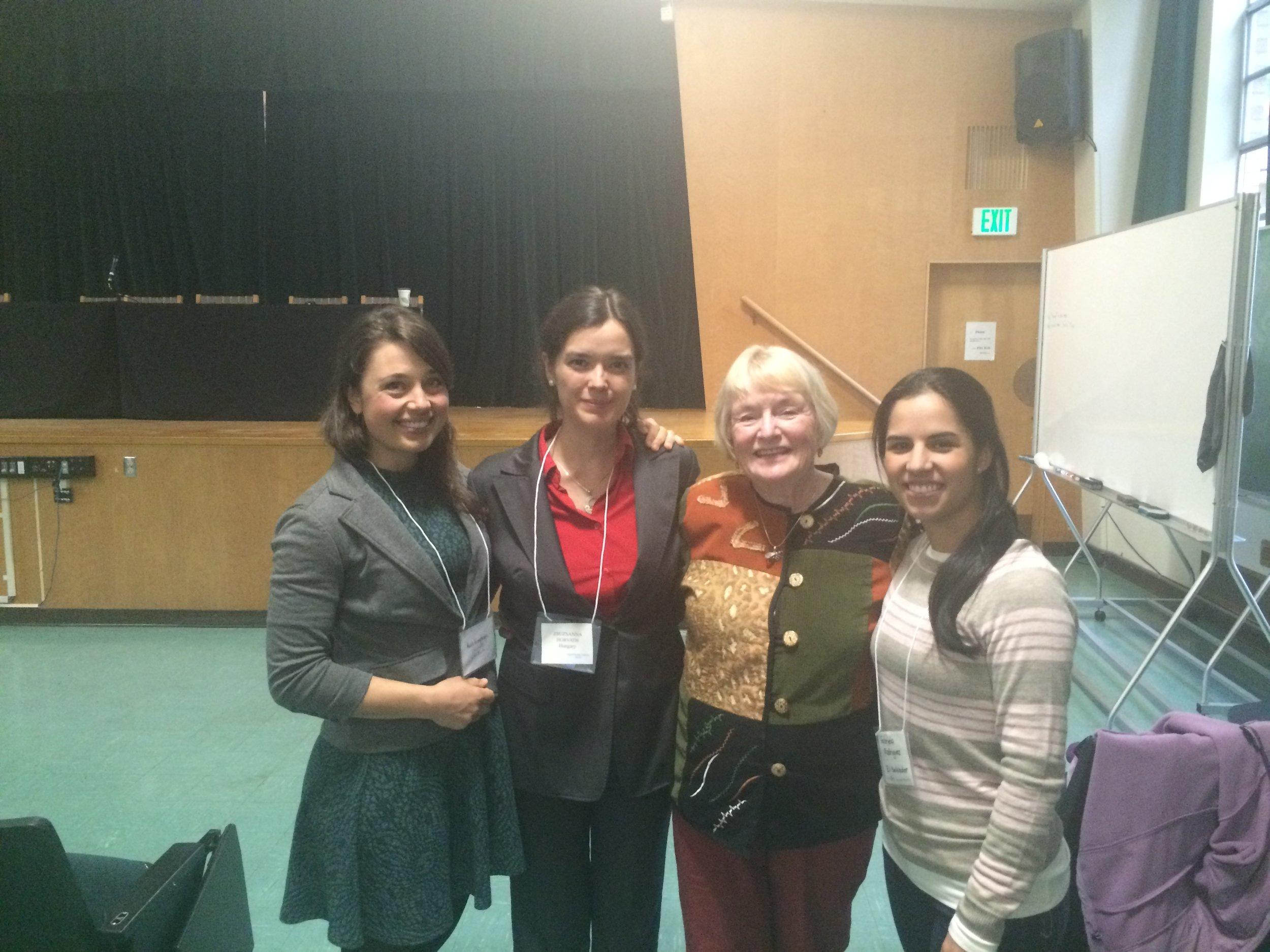 Me, Zsuzsanna, Sandra Bardsley, and Gabriella
