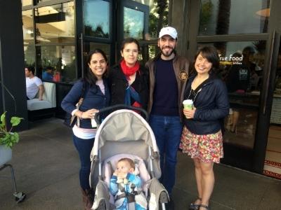 Gabriella, Zsuzsanna, Nayib, myself, and the real star of APPPAH, baby Lehel.