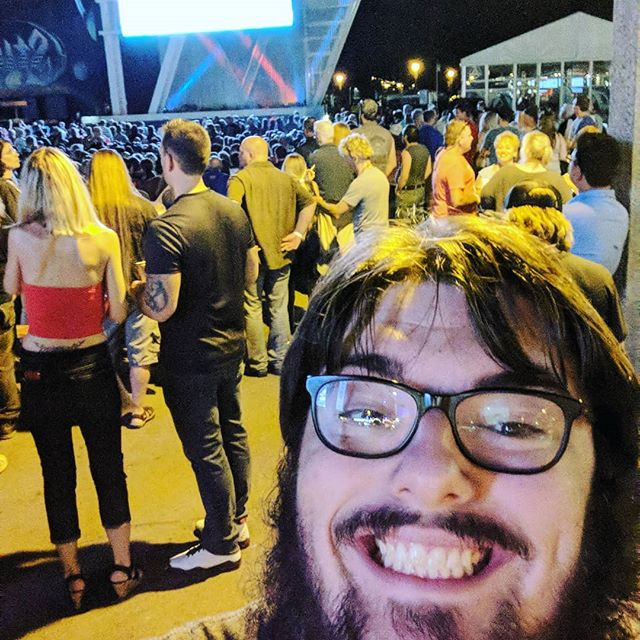 Panda is about to see Styx! Rock on #summerfest2019 #styx  @styxtheband #uscsmileon #StripsforDays