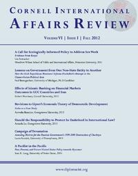 Fall 2012 - Vol. 6, No. 1