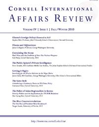 Fall 2010 - Vol. 4, No. 1