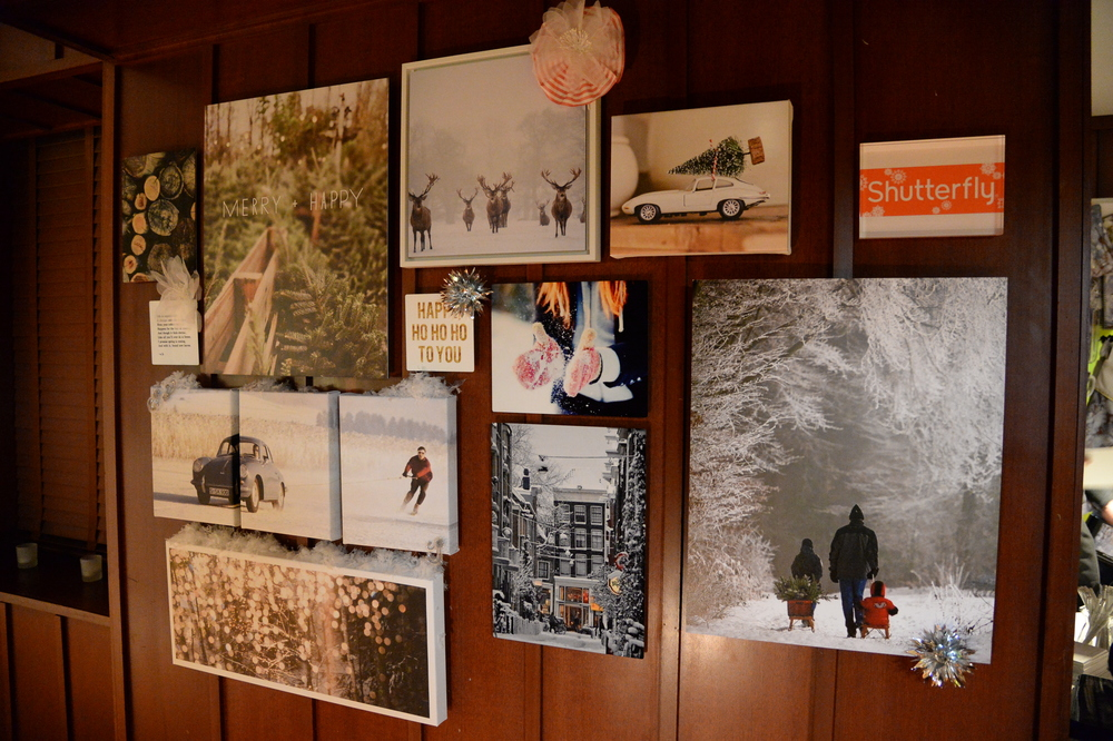 We made gallery walls that lined the hallways to the main event area. I handpicked all the images and created them with Shutterfly products.