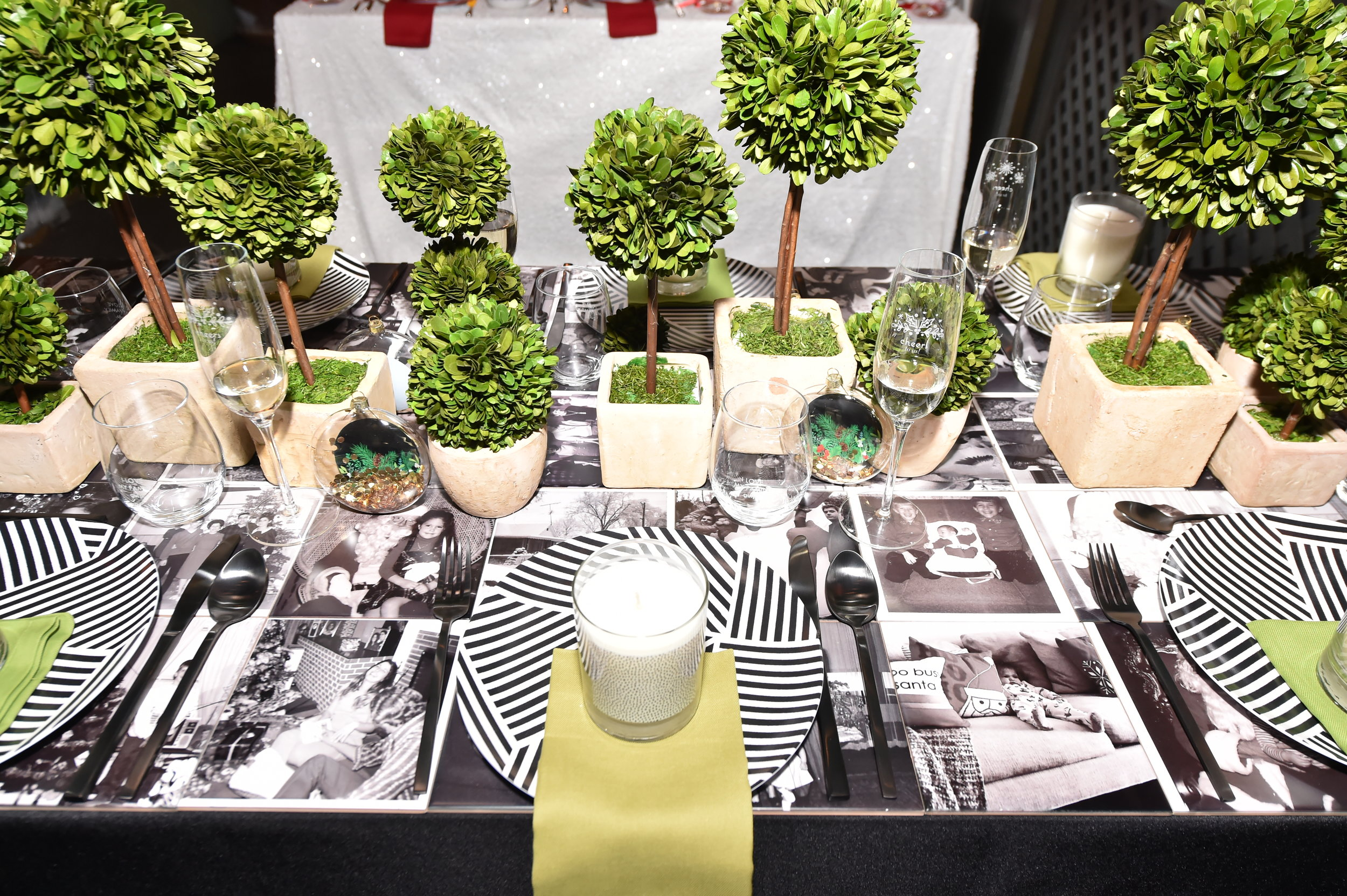 The table top was made of my vintage family holiday photos printed on 6x6 ceramic Shutterfly tiles