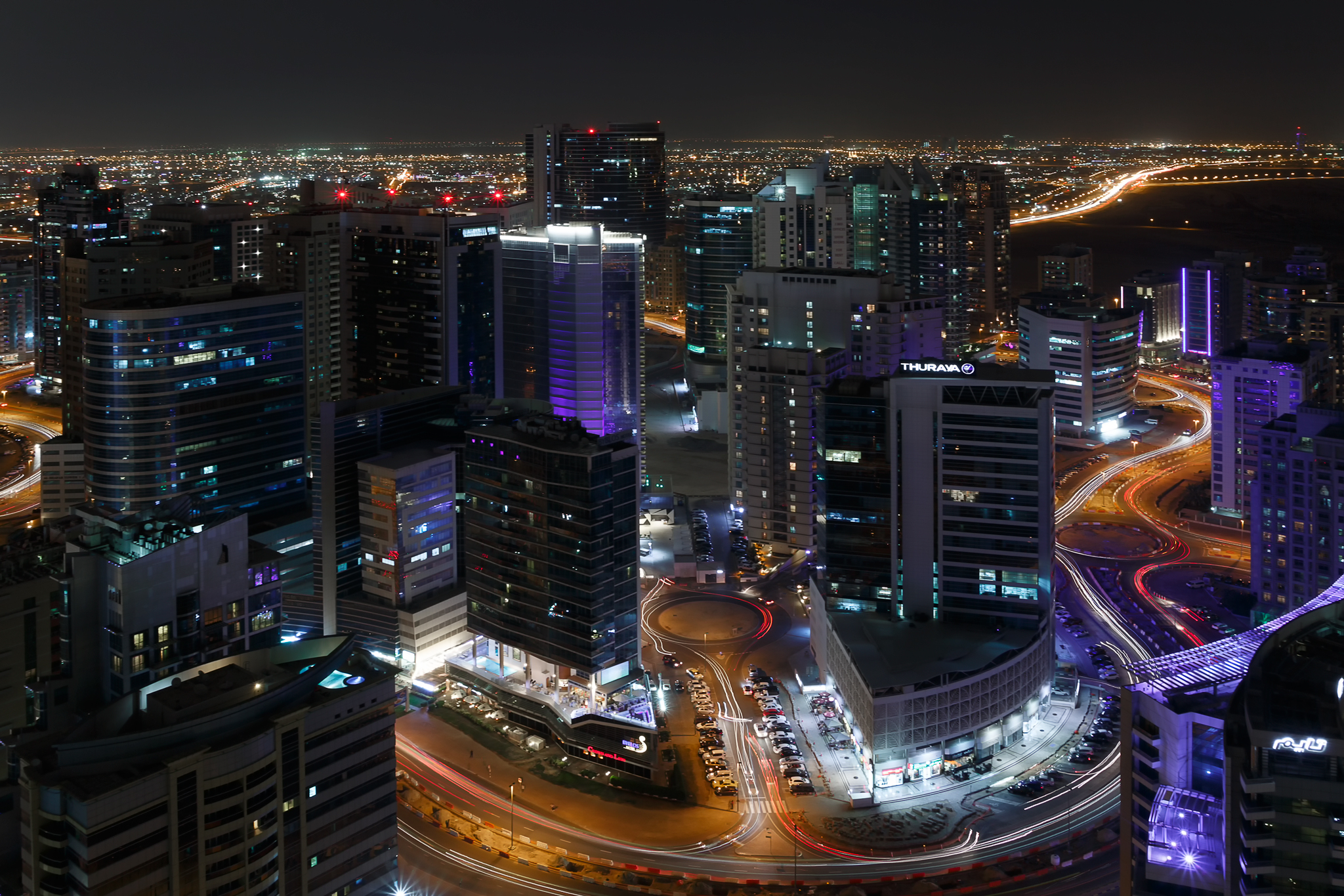 Another cool night shot of Dubai
