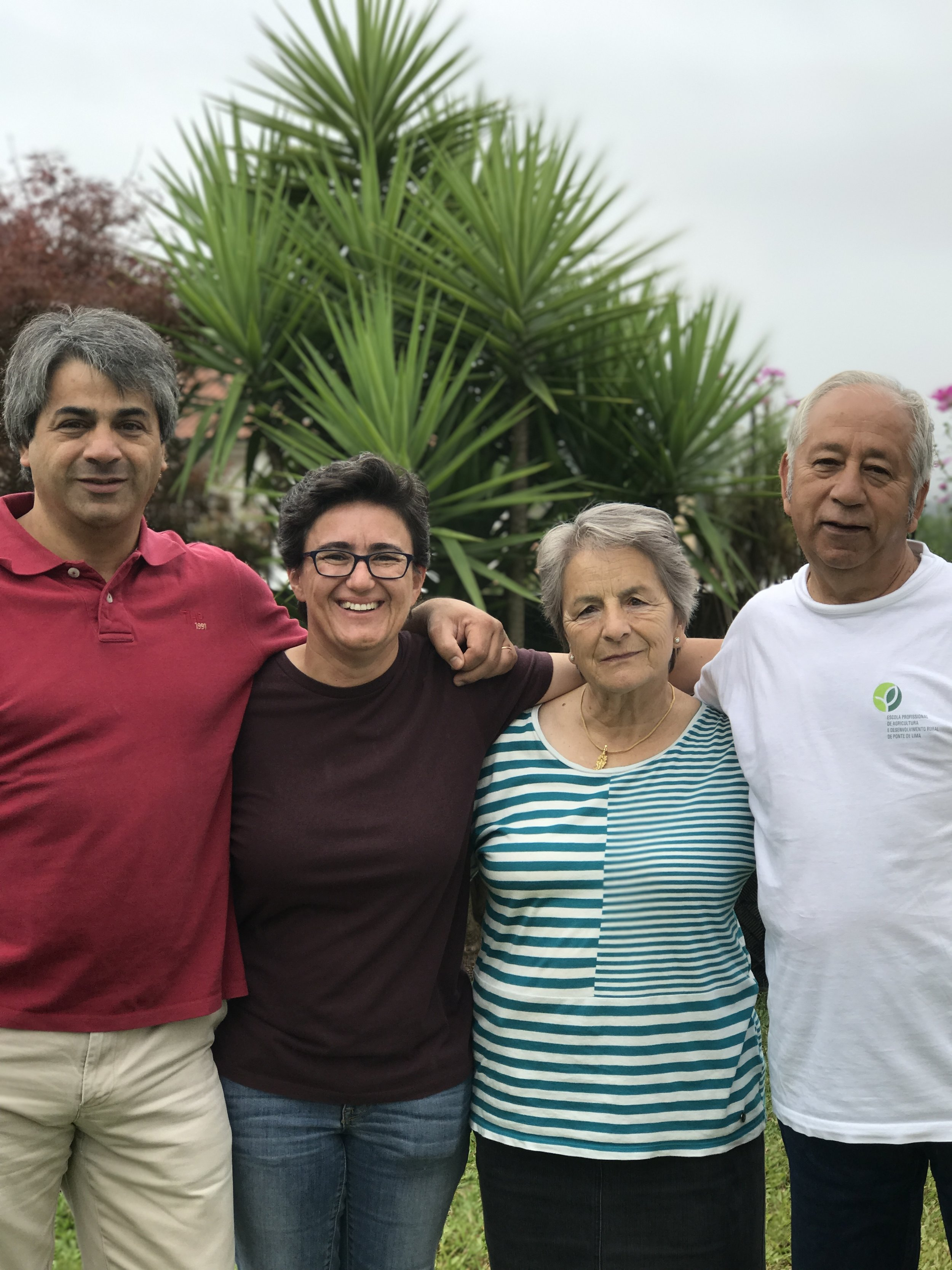 From left: Cousin Miguel, Paula, Tia Loreta, Tio Luis