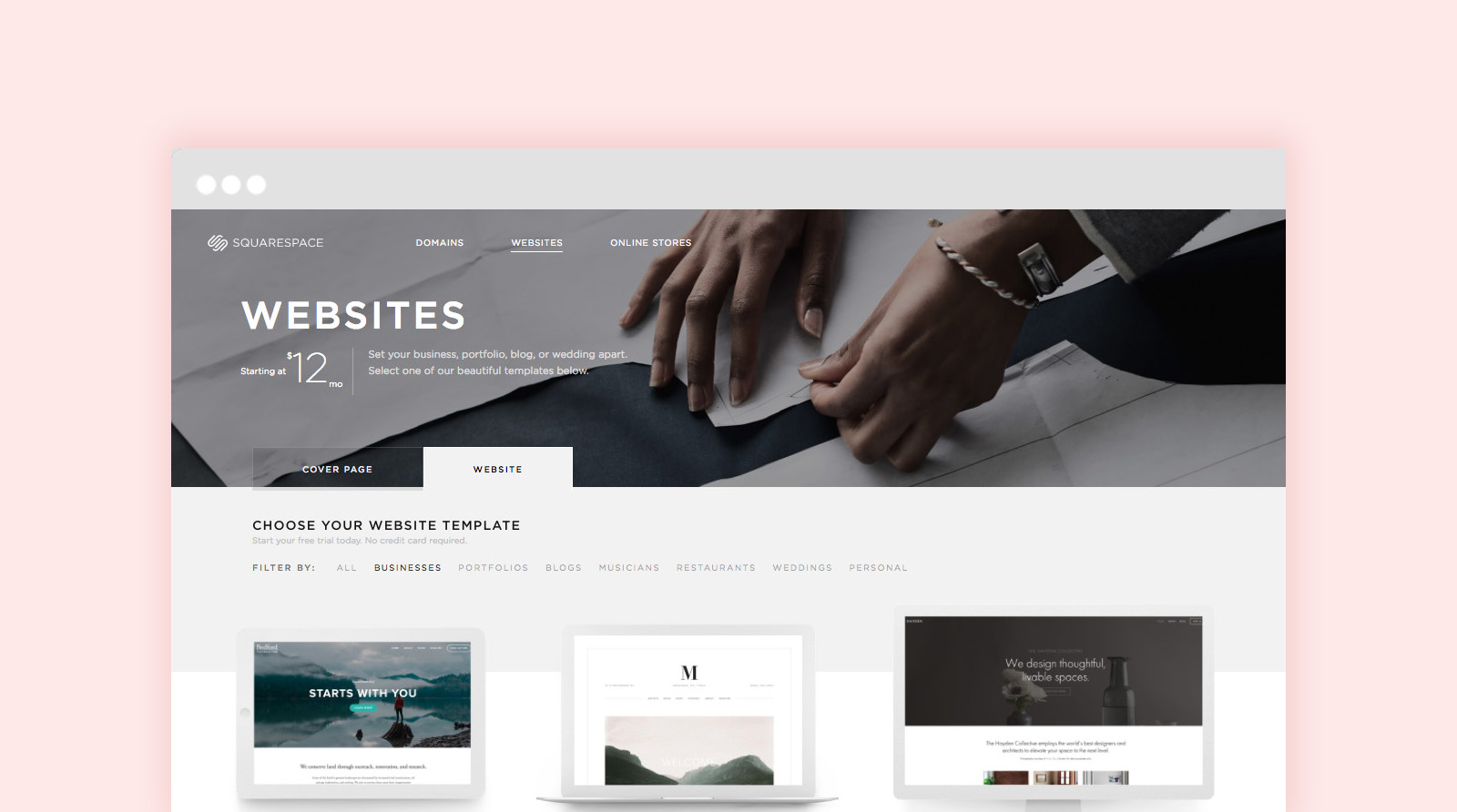 how to pick a squarespace template for your website
