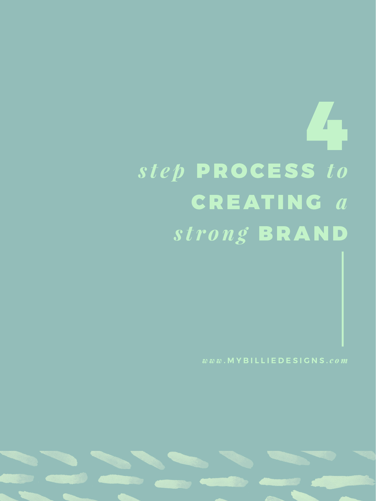 4 steps to creating a strong brand for your business. Click through to read →