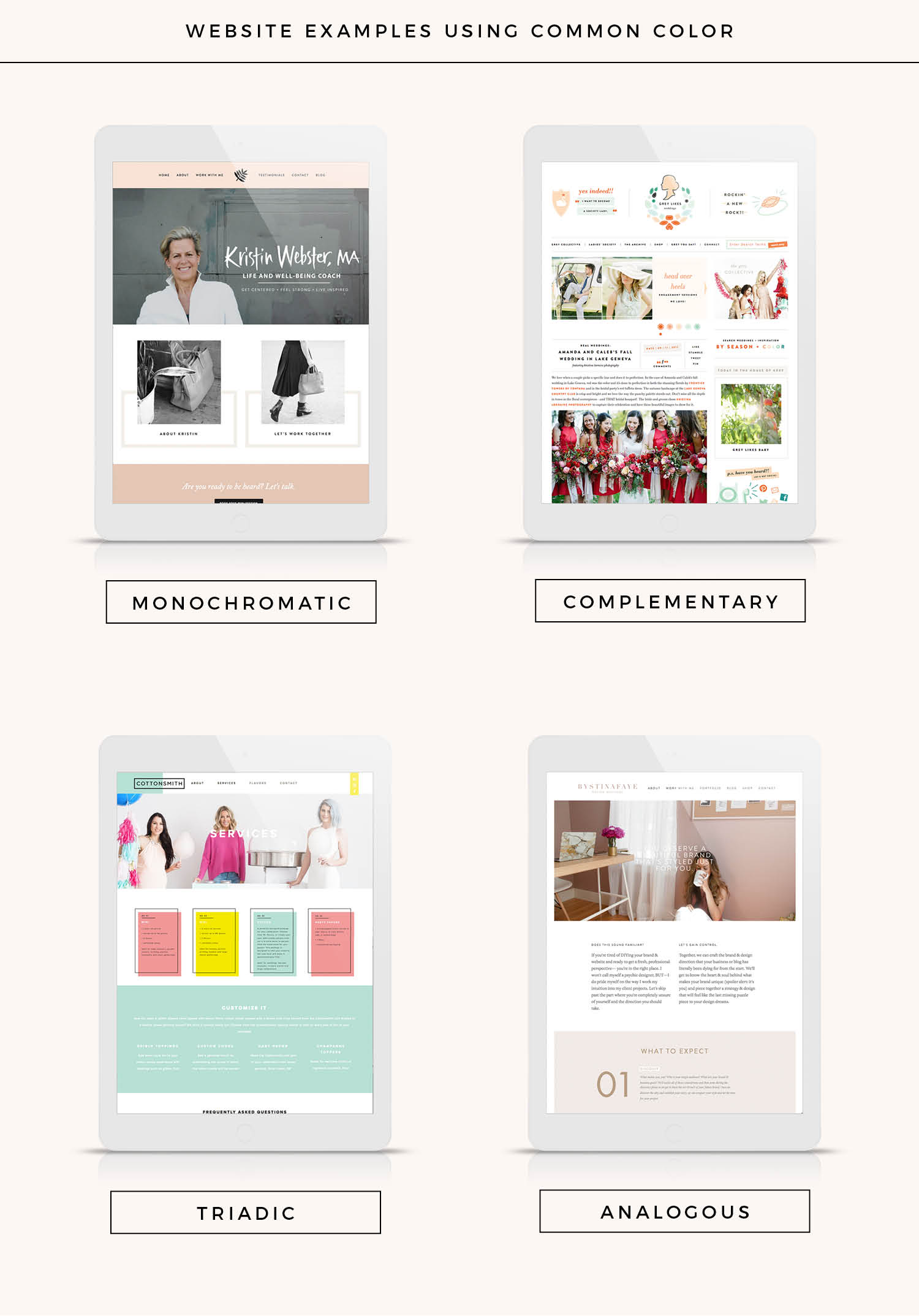 Color scheme website examples!
