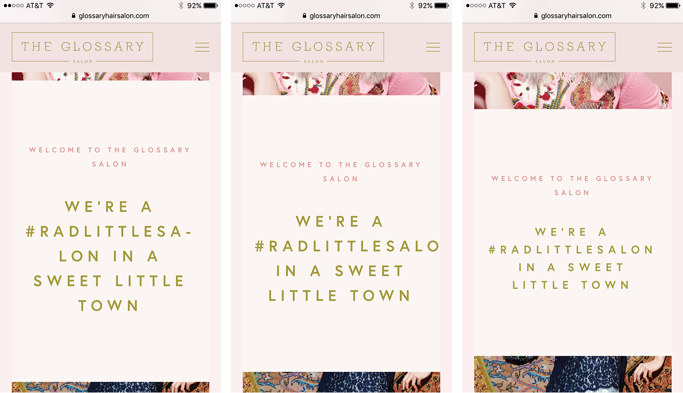 Use CSS to fix hyphenated words on mobile sites in Squarespace