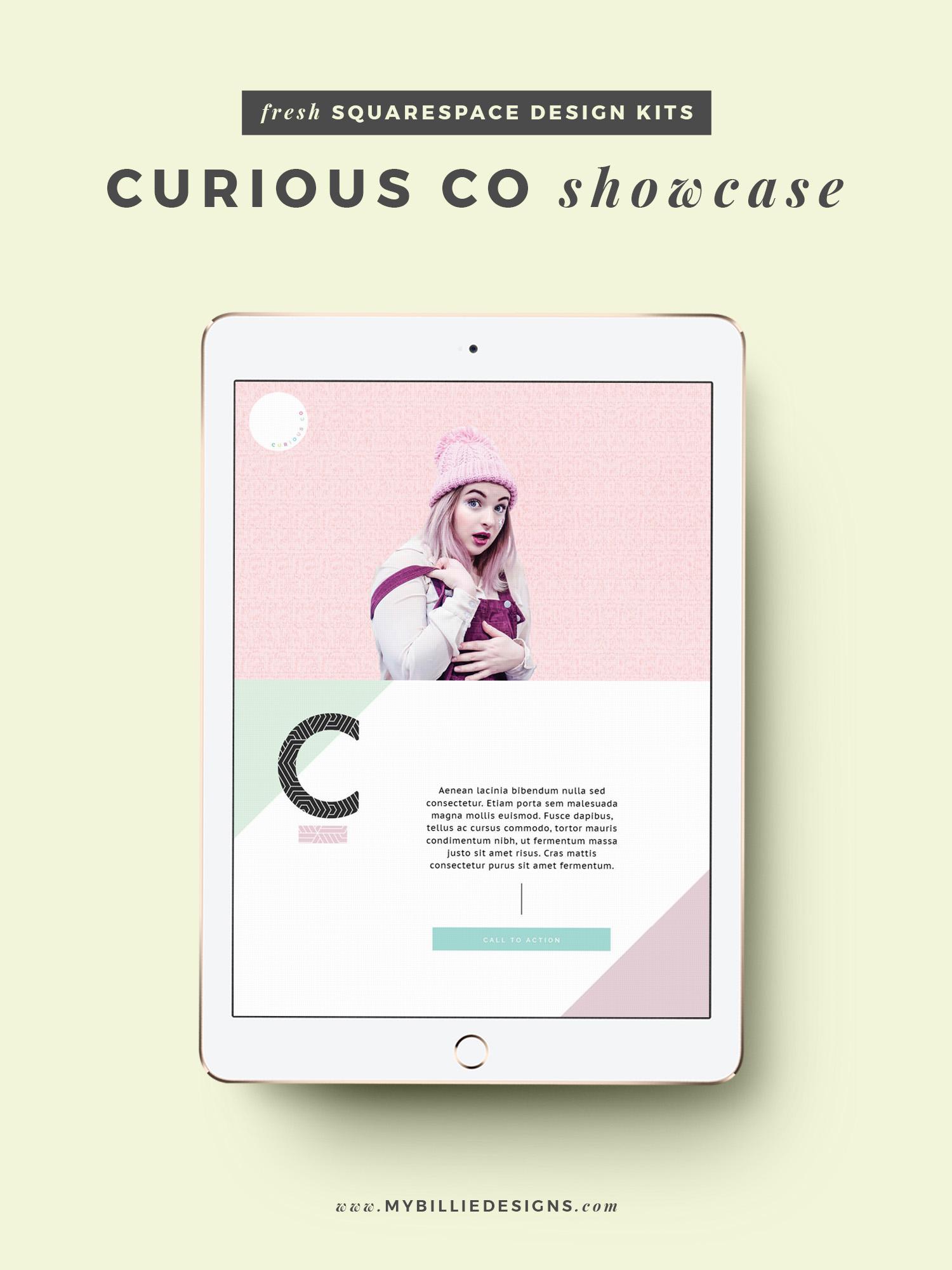 MBD Squarespace Design Kits | Curious Co Design + Customization Ideas