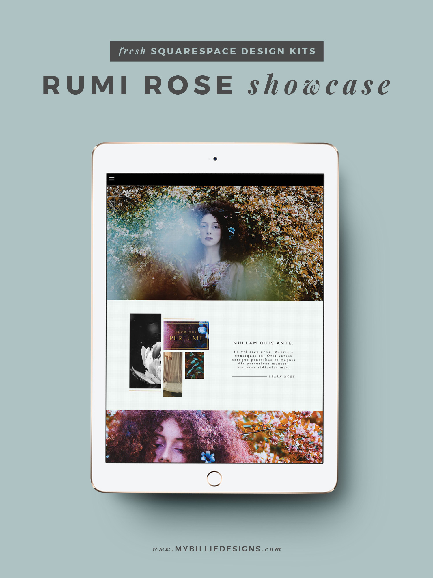 MBD Squarespace Design Kits | Rumi Rose Design + Customization Ideas