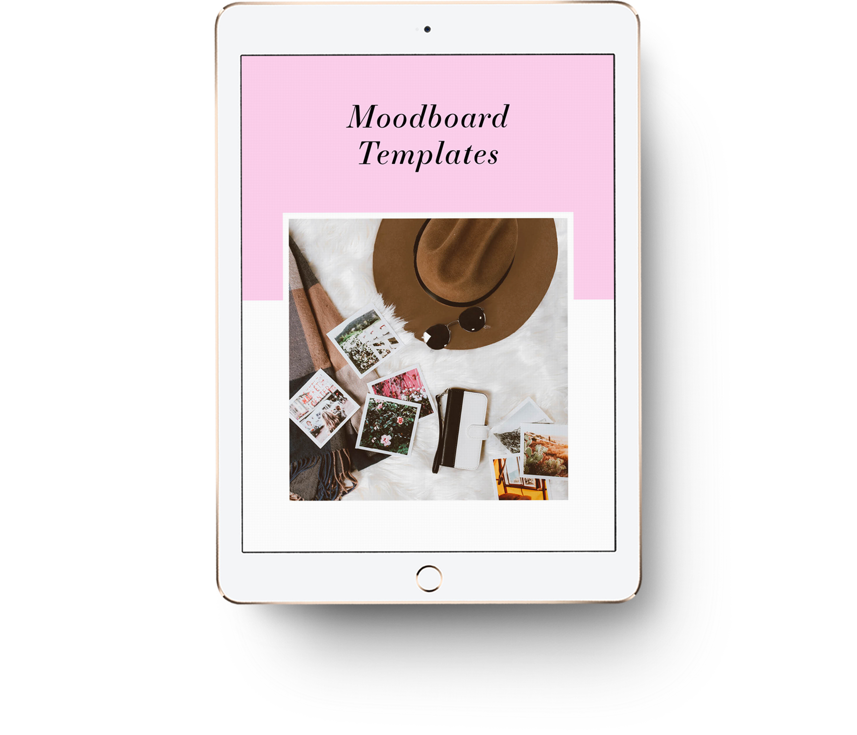 Free moodboard templates for InDesign, Photoshop and Canva
