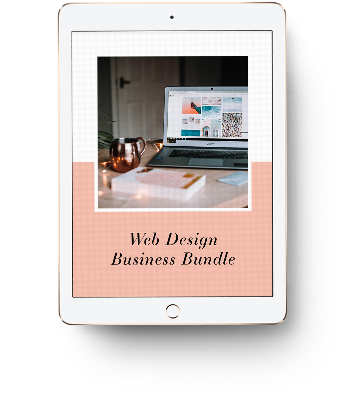 The Web Design Biz Bundle mocked up on an iPad