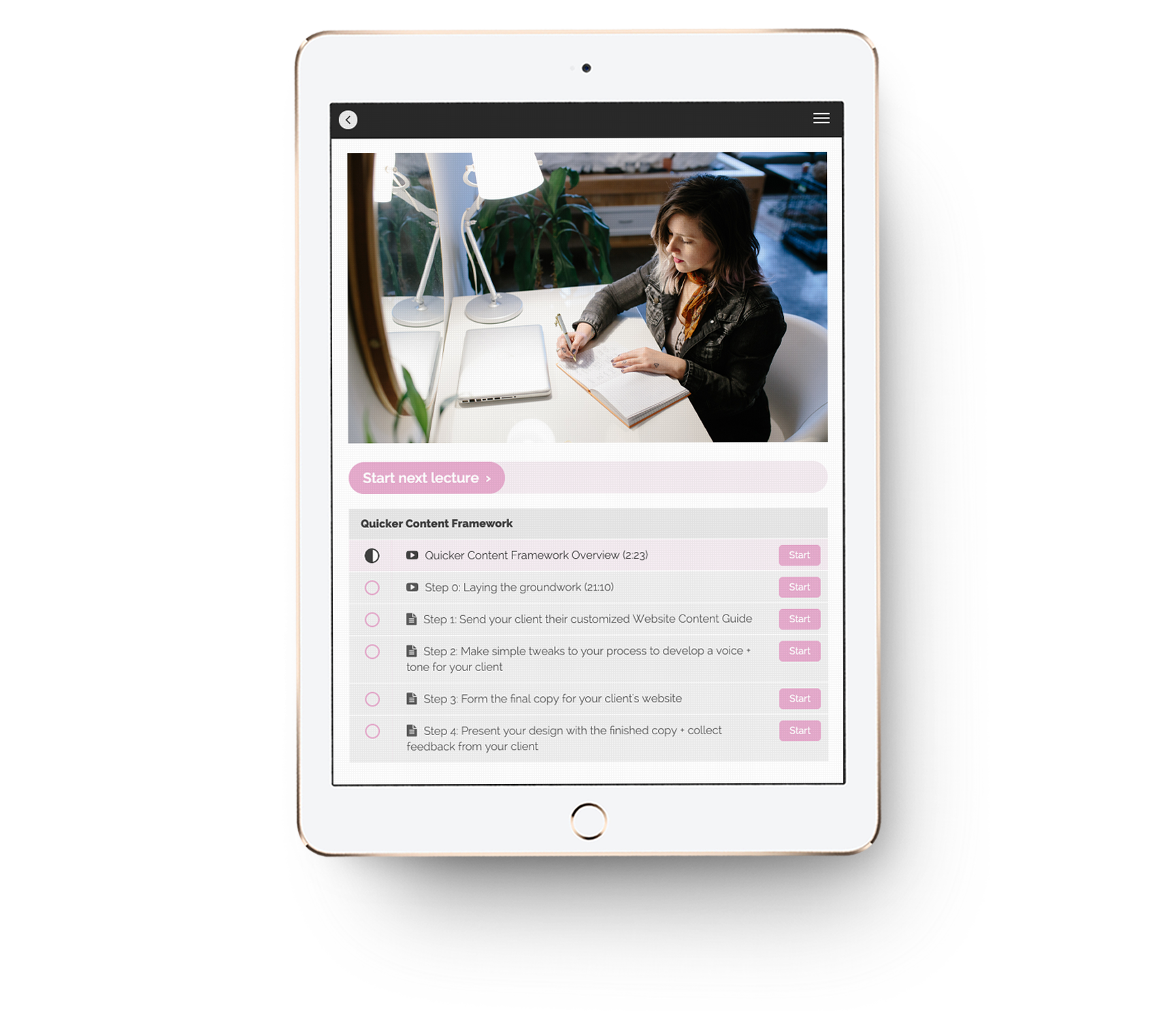 Quicker-Content-Framework-Teachable-lessons-mockup-on-iPad