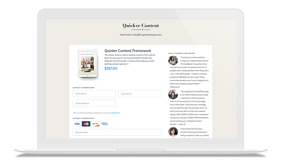 A resource that helps you get website content from clients quicker
