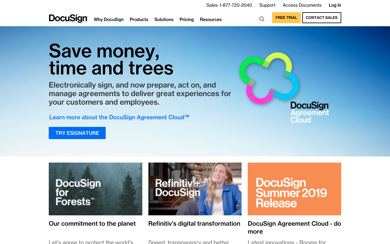 DocuSign allows you to upload a contract that your client can digitally sign