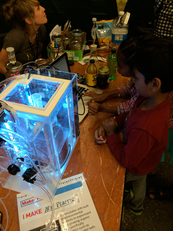 First prototype on display at Maker Faire Bay Area, 2014