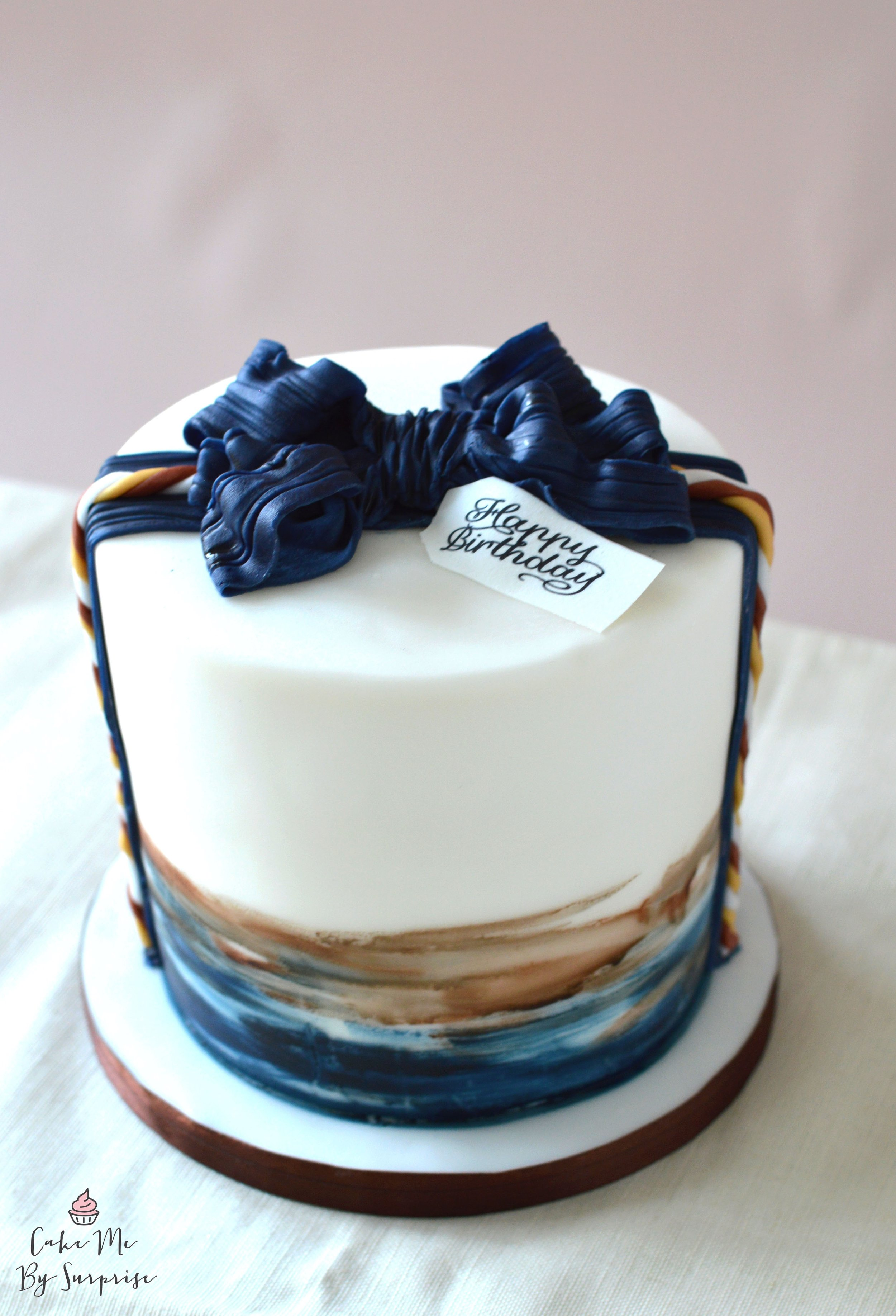 £95.00  MAN CAKE - what cake can you buy that is sophisticated and cool, and still masculine. This design is the perfect style for your Mr Right.