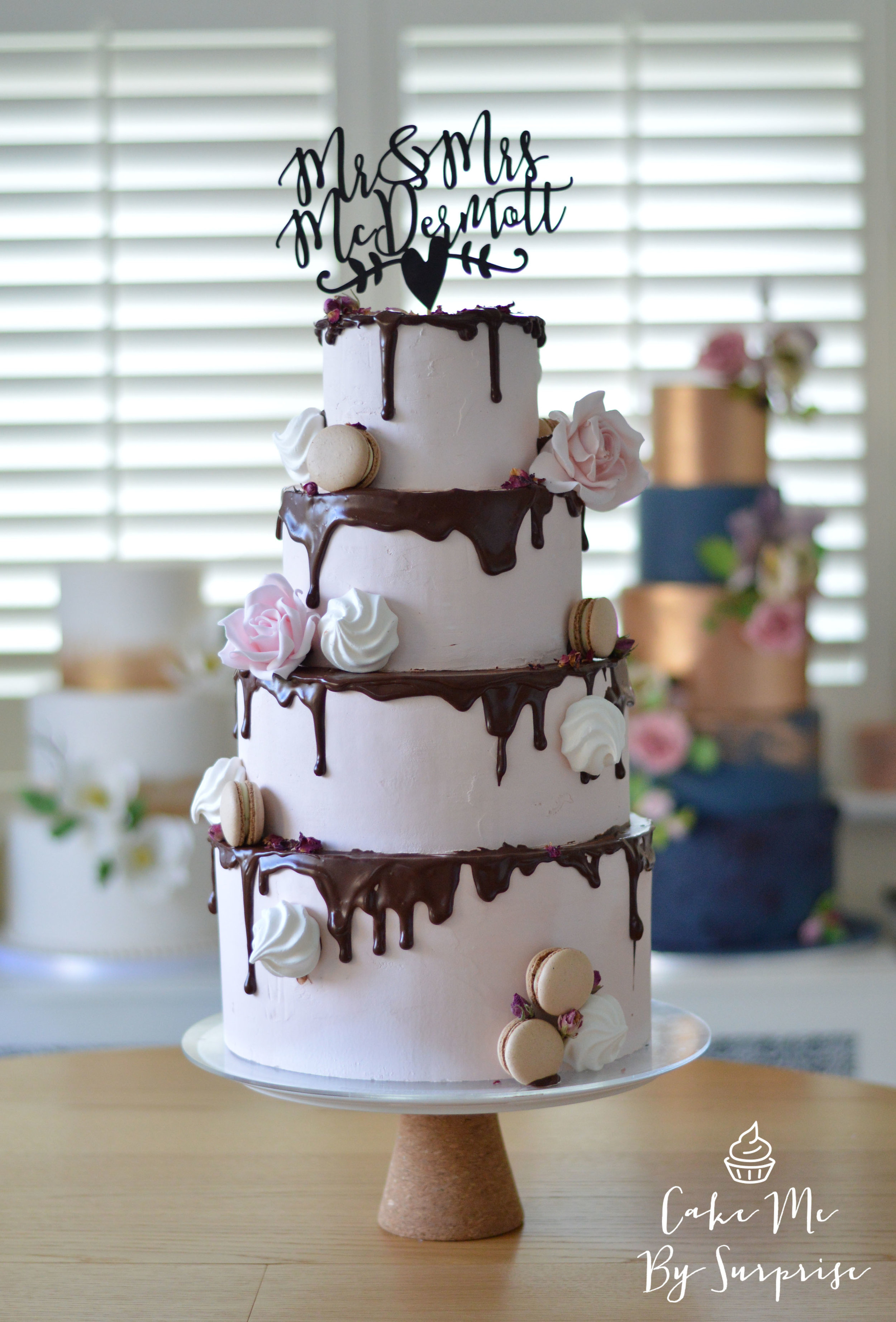 Drip buttercream wedding cake Cake Me By Surprise
