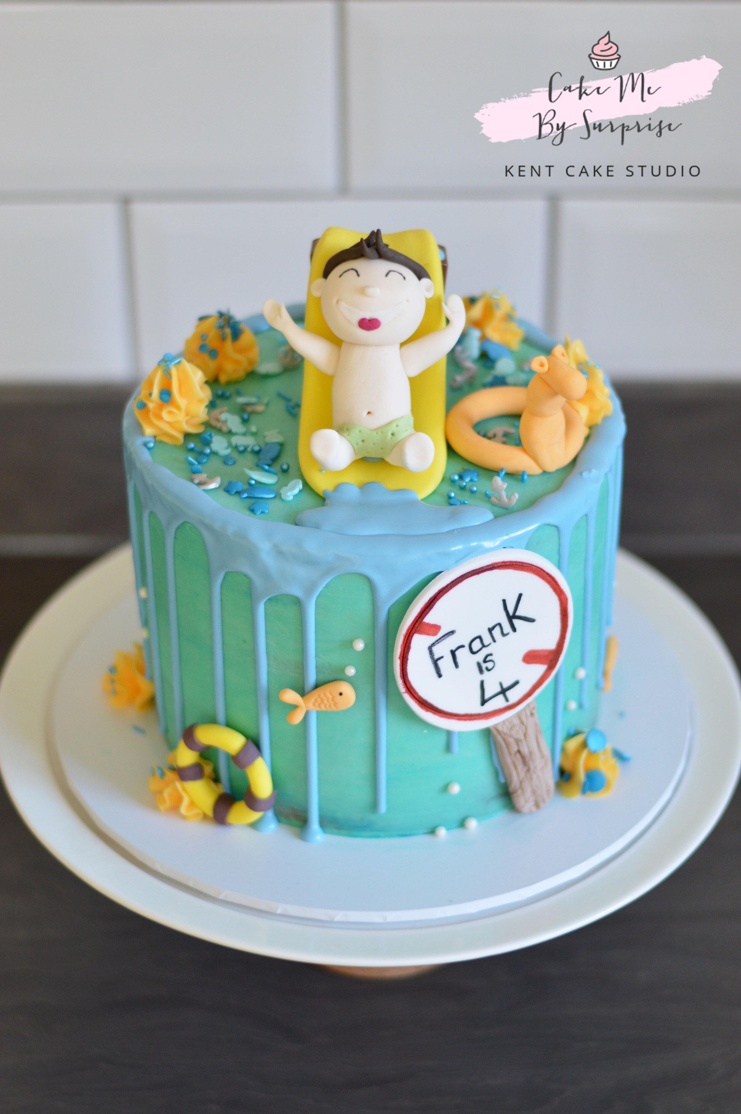 Waterpark Splash Drip Cake