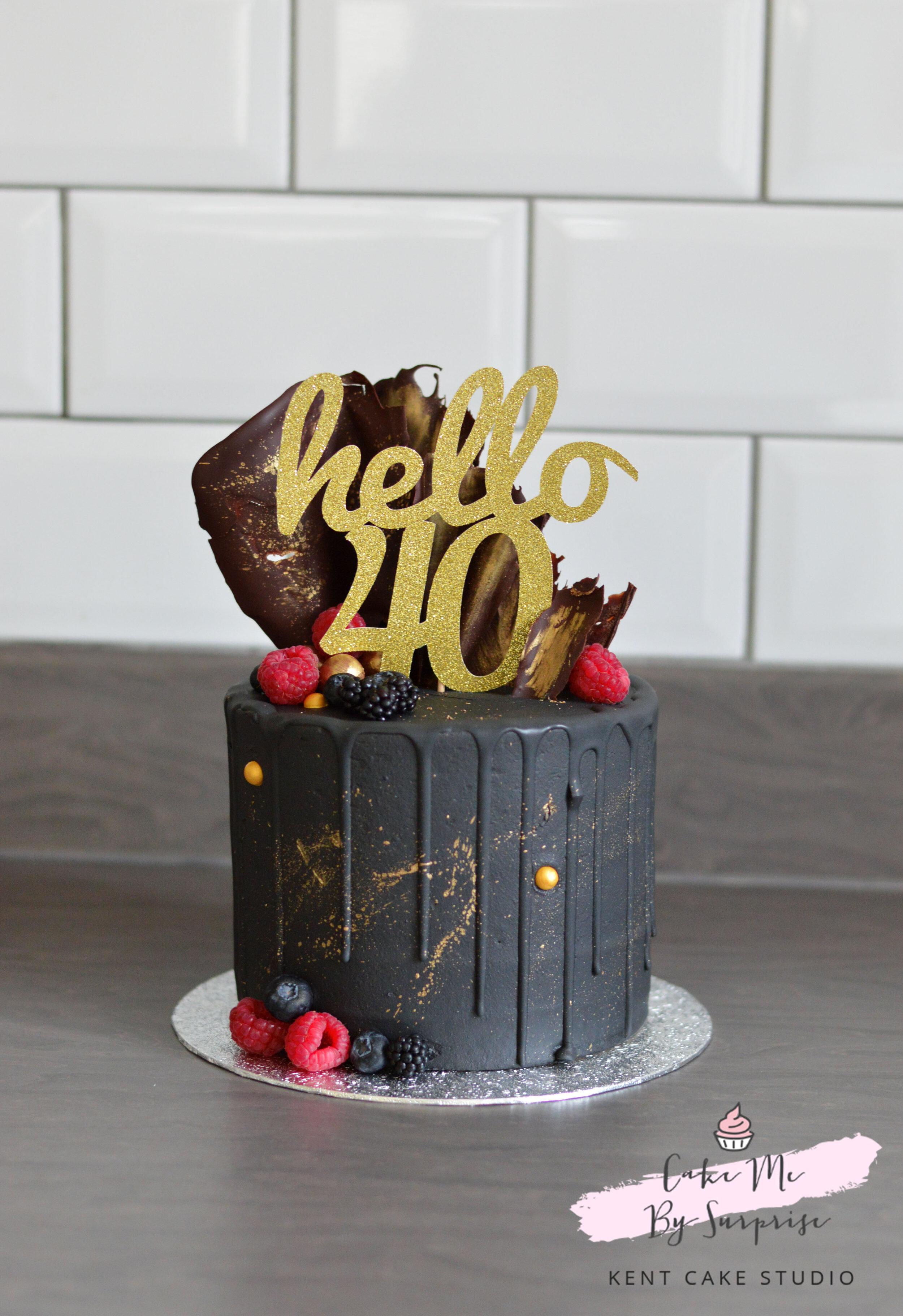 Hello 40 Black Gold Drip Cake.jpg