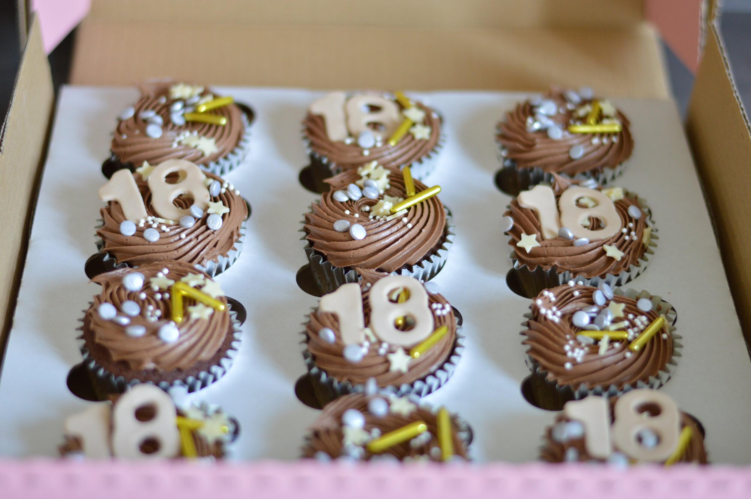 18 Birthday Cupcakes