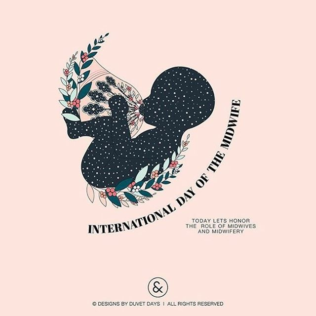 Shout out for International Midwives Day 2019! Thank you to all the wonderful midwives around Australia and the world 💜  Your hard work, skills and commitment to supporting women and babies is deeply appreciated 😘  Image from @duvet_days    go have a look at their beautiful page!