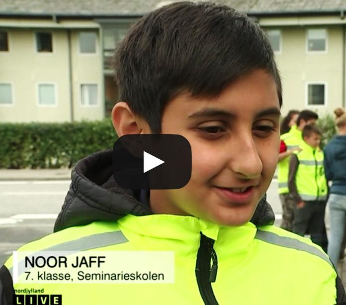 Se indslaget med Noor Jaff på TV2 Nord - det kommer 1:17 inde i udsendelsen.