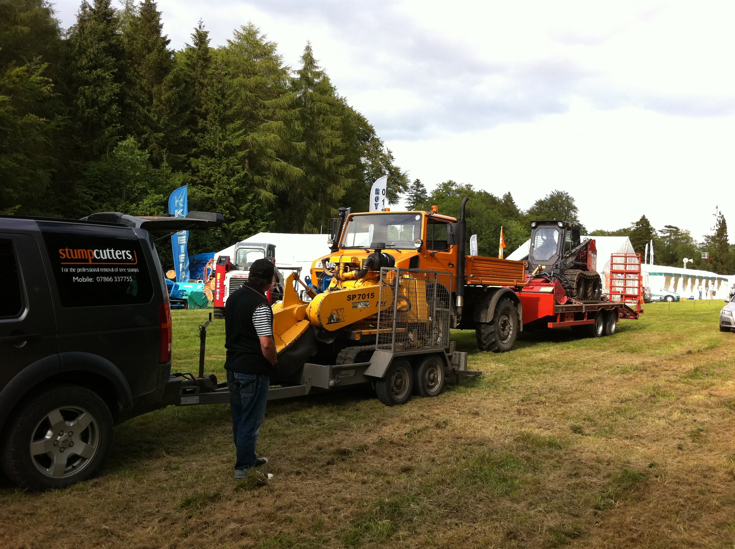Delivering our Carlton 7015 stump grinder to Arb Show, Cirencester