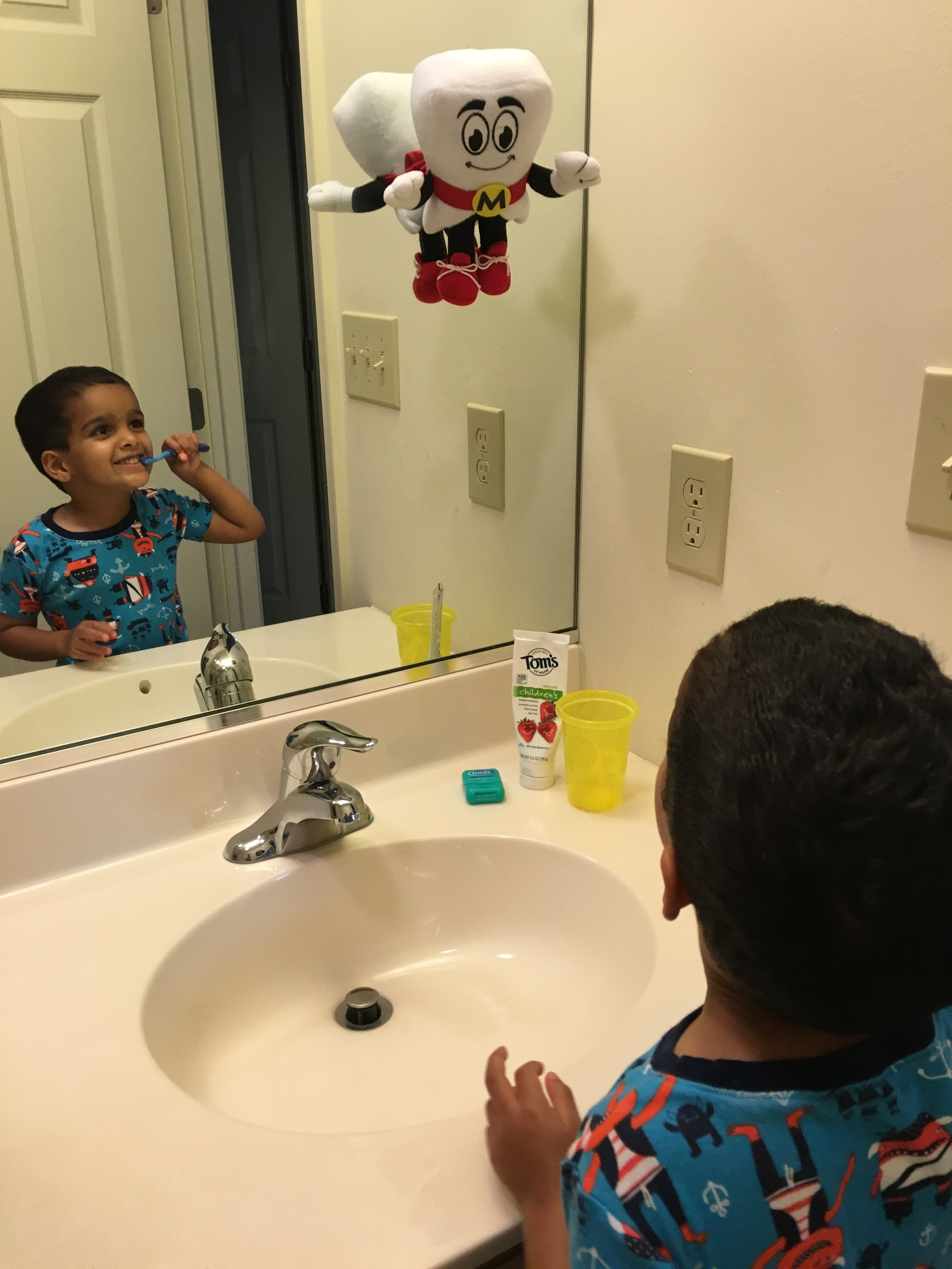 Motivating our kids to brush can help make the chore less tedious!