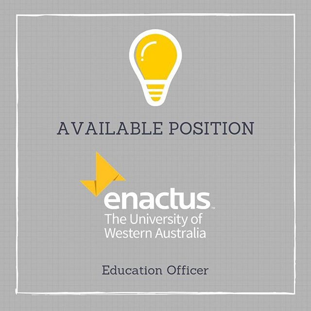 Applications for Enactus' two currently-open positions of Education Officer and UneARThed Marketing Officer are closing soon! If you have been considering getting involved with the Enactus team, we would love to hear from you! 🤩  Head to our fb page for more info & application forms!