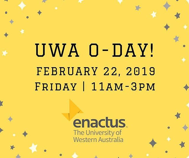 3 days to go until UWA O-DAY 2019! Interested in making a difference this year? Stop by our tent and chat to the team to find out how YOU can help create positive social impact through entrepreneurship this year!  We look forward to seeing you Friday for signups, icy poles and more!  https://www.facebook.com/events/313772829226366/