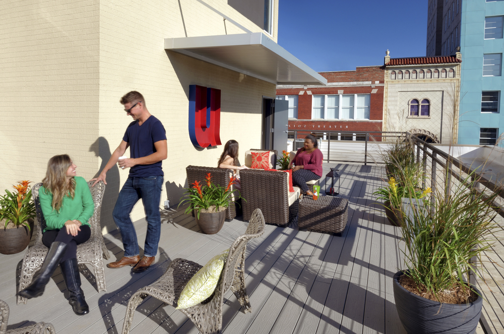 The U outdoor amenities