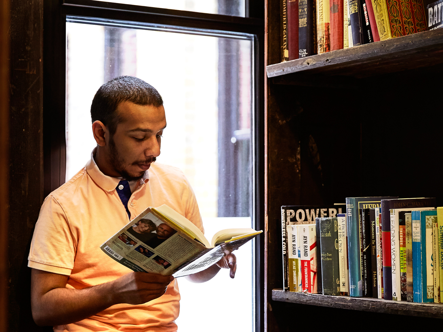 The Sterling student reading